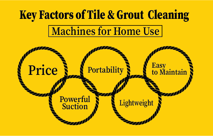 Keyfactor for choosing tile & grout cleaning machine for home use