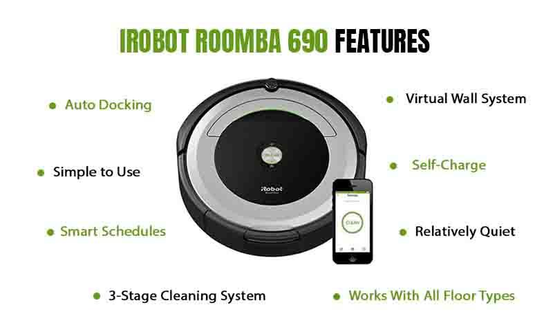Features ofiRobot Roomba 690