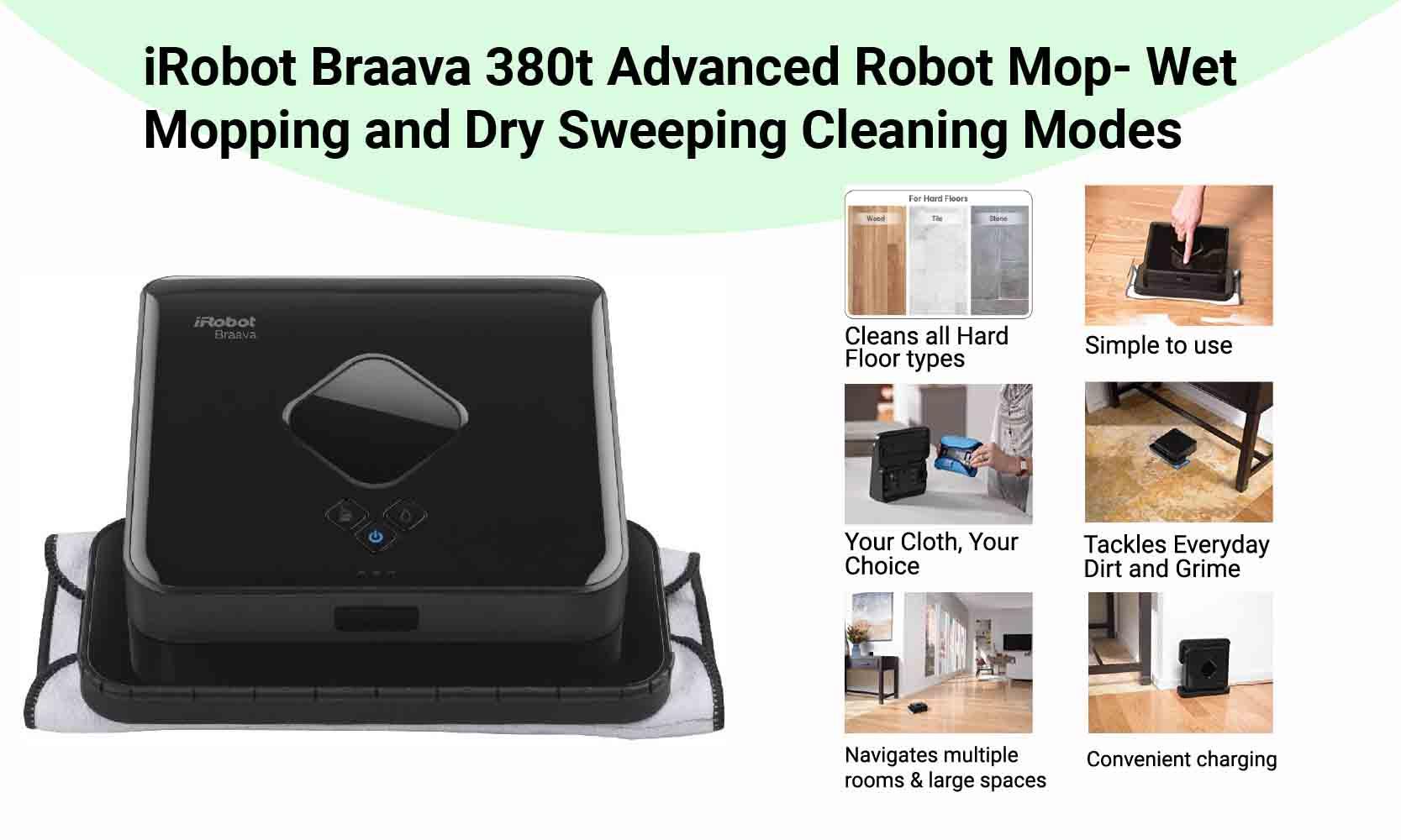 iRobot Braava 380t Robot Mop