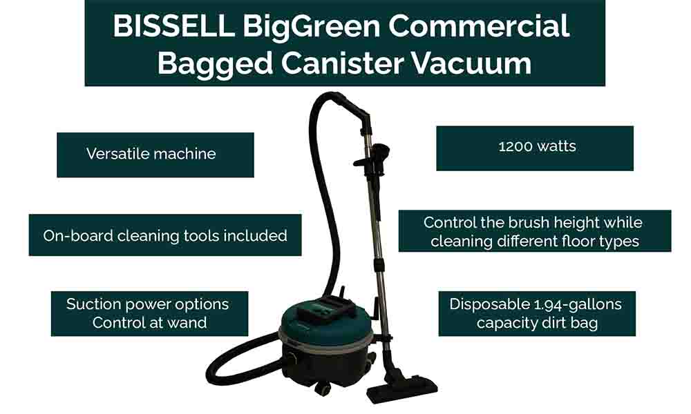 BISSELL BigGreen is a canister vacuum