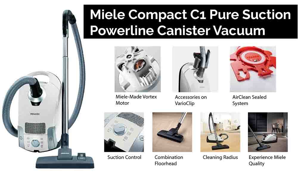 Miele Pure Suction P1 Canister Vacuum