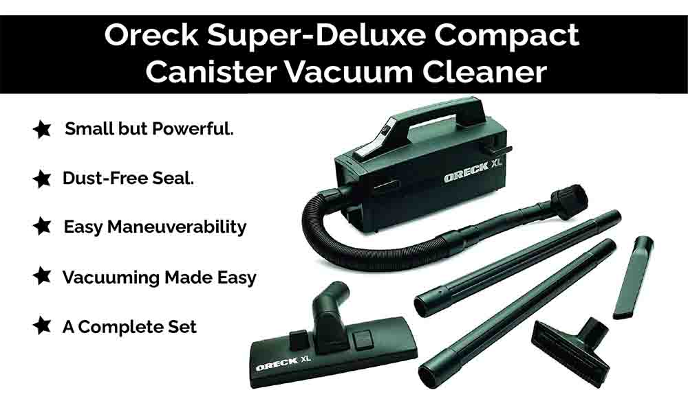 Oreck Super-Deluxe Compact Canister Vacuum