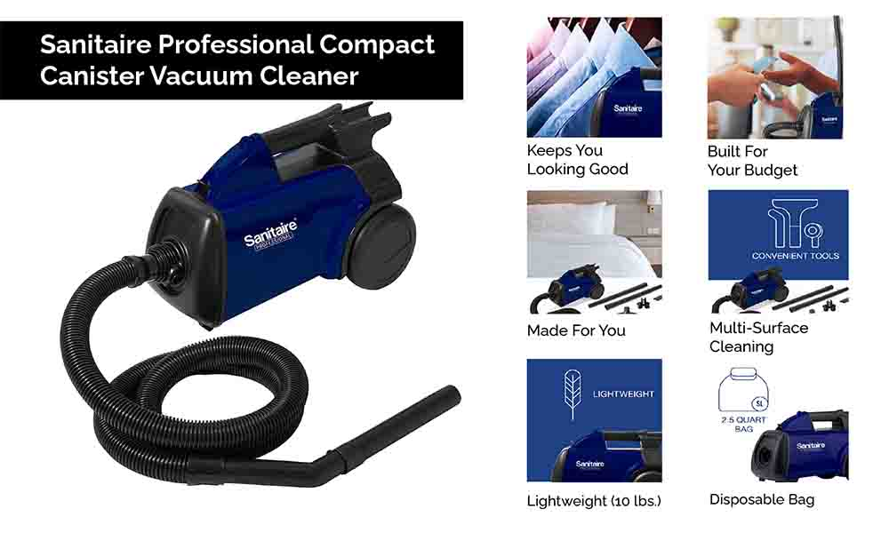 Sanitaire Professional Compact Canister Vacuum