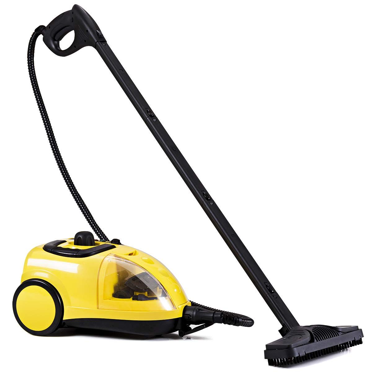 COSTWAY Steam Cleaner, Adjustable Heavy Duty Professional Steam Cleaning, Cleaning Machine-Included 17 Accessories, Ideal for Floors, Windows, 1500W