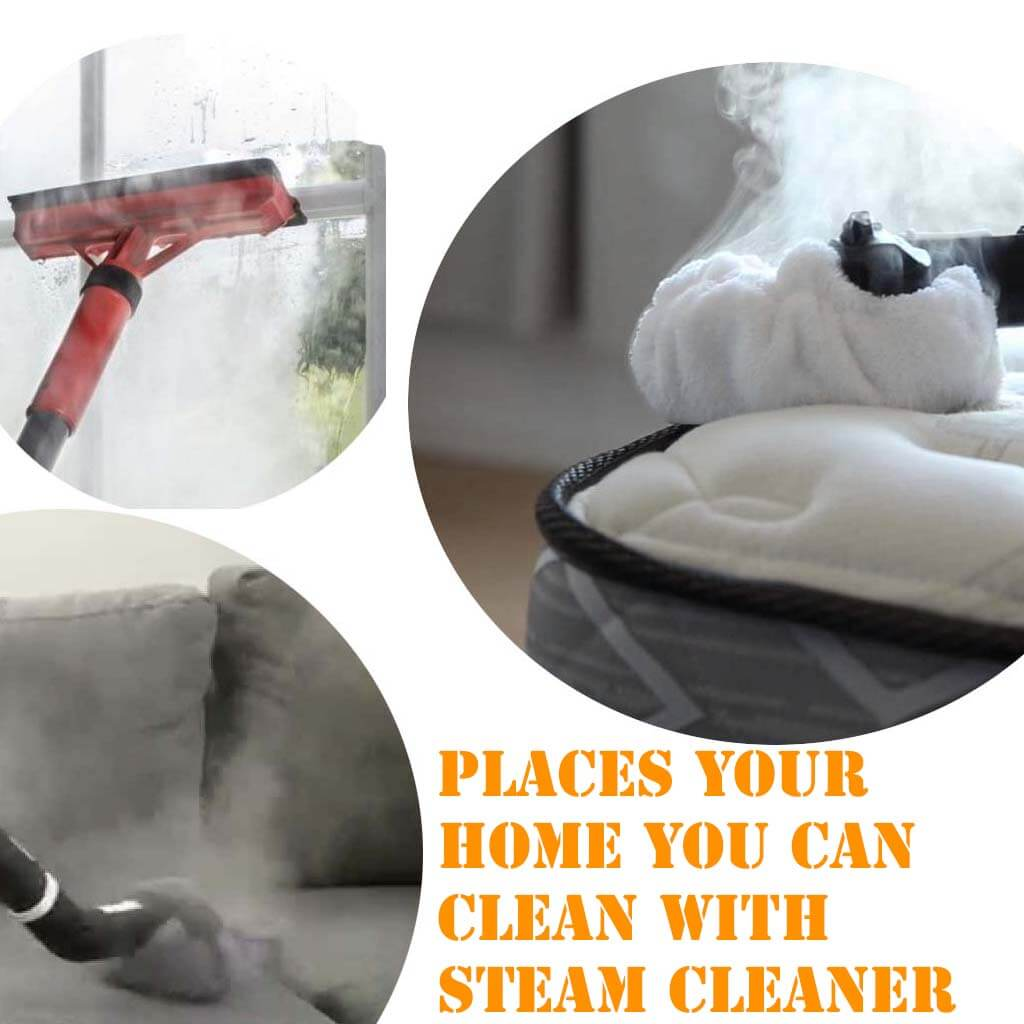 Places to clean with steam cleaner