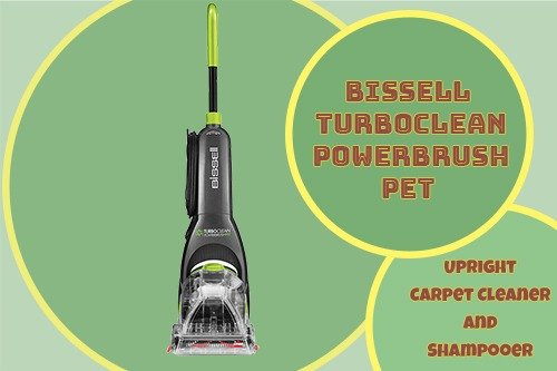 Bissell Turboclean Powerbrush Pet Upright Carpet Cleaner and Shampooer
