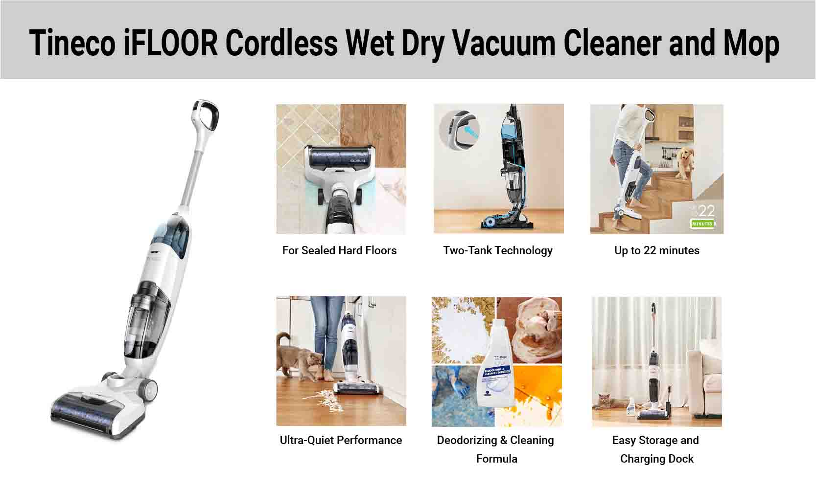 Tineco iFloor Wet Dry Vacuum